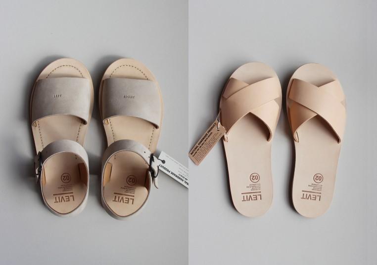 Levit 02, des sandales mixtes en cuir à tannage végétal