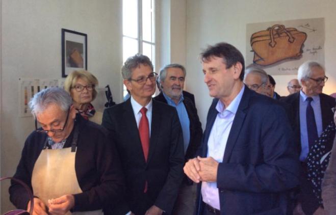 Mme Elisabeth Morin-Chartier, Députée Européenne, M. Frank Boehly, Président du Conseil National du Cuir et M. Jean-François Macaire, Président du Conseil Régional Poitou-Charentes