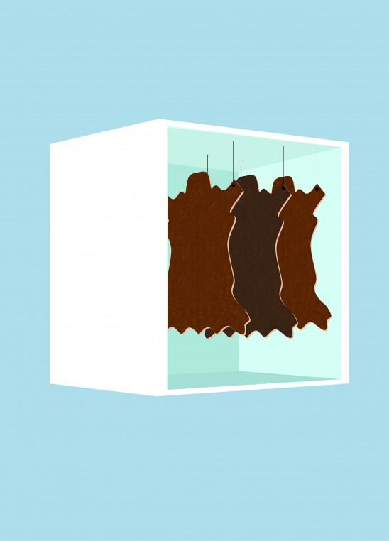 Les peaux sont conservées dans des chambres froides.