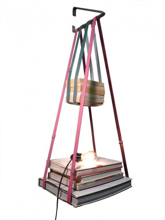 Upcycling hexagonal, l'Etage-Air de Bandit Manchot en cuir de vachette.