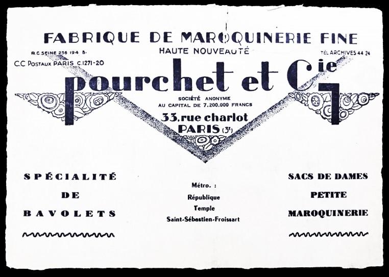 Les origines parisiennes de Pourchet remontent au début du XXème siècle