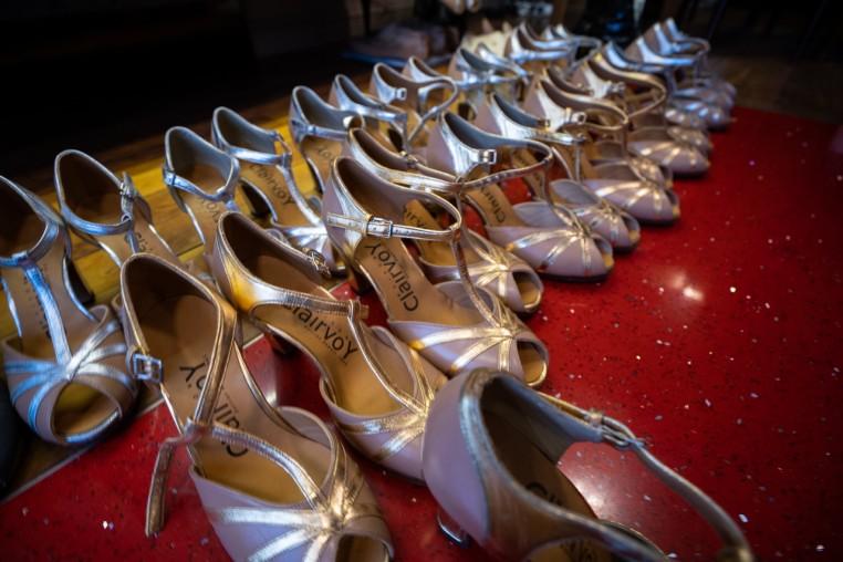 Souliers des danseuses du Moulin Rouge réalisés par la Maison Clairvoy