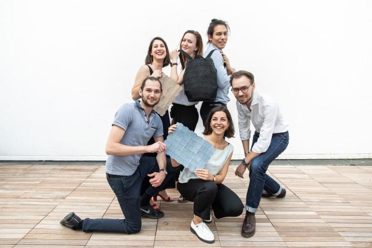 L'équipe de Scalia : Kevin Damour, Claire Durand, Baptiste Cotten, Mathilde Lopez, Camille Coulon, Vincent Sénéchal.
