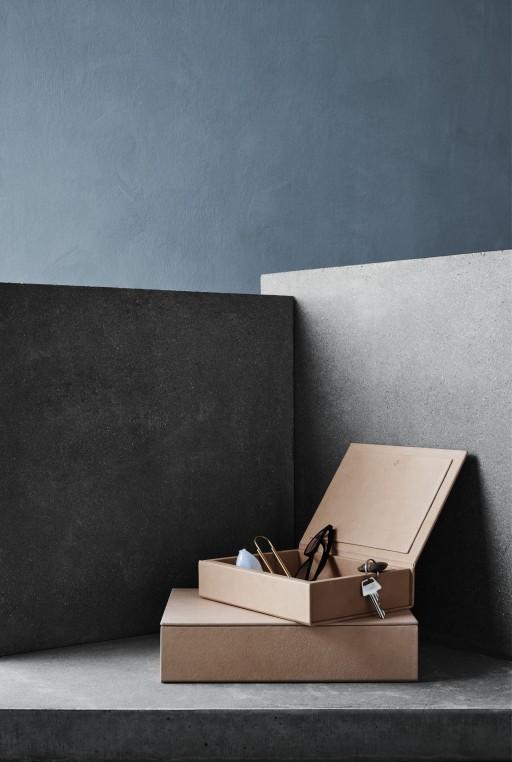La boîte Fritz Hansen recycle des chutes de cuir.