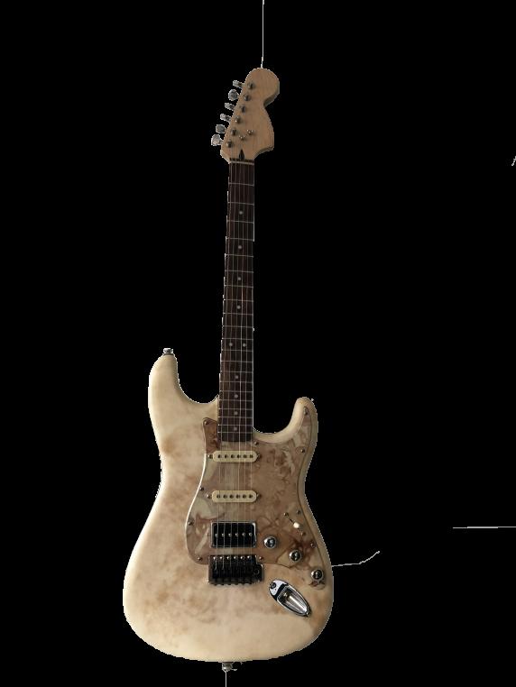 ATELIER BETTENFELD-ROSENBLUM, Stratocaster, guitare électrique, parchemin patiné à la main, 2017