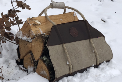 Le sac à bûches de L'atelier des Tanneries