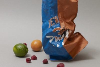 Le Bread Bag, sac objet en cuir froissé de Duren.